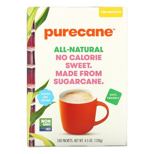 Purecane, No Calorie Sweet, 100 Packets, 1.3 g Each