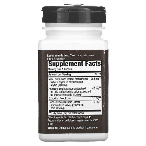 Enzymatic Therapy, Молочный чертополох, здоровье печени, 120 овощных капсул