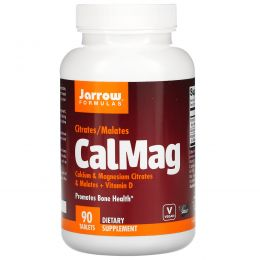 Jarrow Formulas, Цитрат-малат кальция и магния, 90 легко растворяющихся таблеток