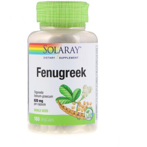 Solaray, Fenugreek Seeds, 620mg, 180ct