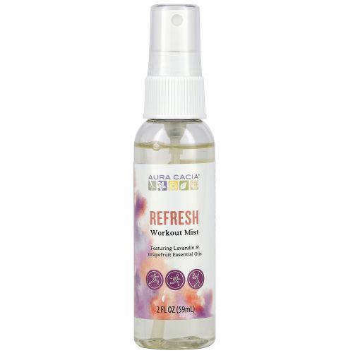 Aura Cacia, Refresh, Workout Mist, 2 fl oz (59 ml)