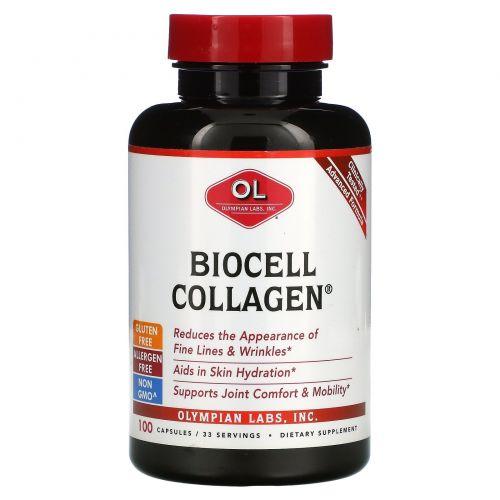 Olympian Labs Inc., Коллаген BioCell, 100 капсул