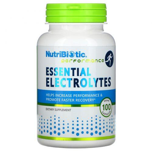 NutriBiotic, Essential Electrolytes , 100 веганских капсул
