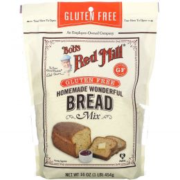 Bob's Red Mill, Homemade Wonderful Bread Mix, Gluten Free, 16 oz (453 g)