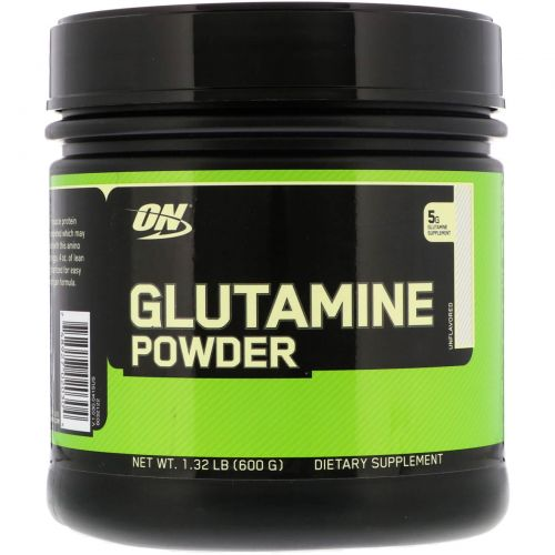 Optimum Nutrition, Порошок с глутамином, без вкуса, 1,32 фунта (600 г)
