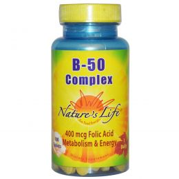 Nature's Life, Комплекс B-50, 100 таблеток