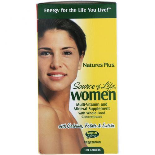 Nature's Plus, Source of Life, для женщин, мультивитаминная и минеральная добавка, 120 таблеток