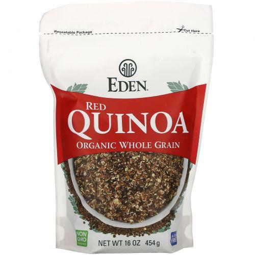 Eden Foods, Органическая красная квиноа, в зернах, 16 унций (454 г)
