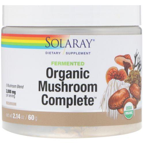 Solaray, Fermented Organic Mushroom Complete, 2.14 oz (60 g)