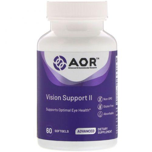 Advanced Orthomolecular Research AOR, Классическая серия, поддержка зрения II, 60 гелевых капсул