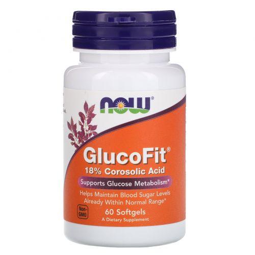 Now Foods, Глюкофит, 60 мягких желатиновых капсул