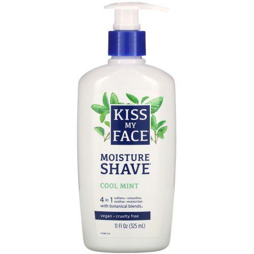 Kiss My Face, Увлажняющее средство для бритья, с охлаждающей мятой, 11 жидких унций (325 мл)