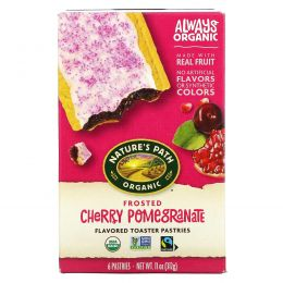 Nature's Path, Organic Flavored Toaster Pastries, Frosted Cherry Pomegranate, 6 Pastries, 11 oz (312 g)