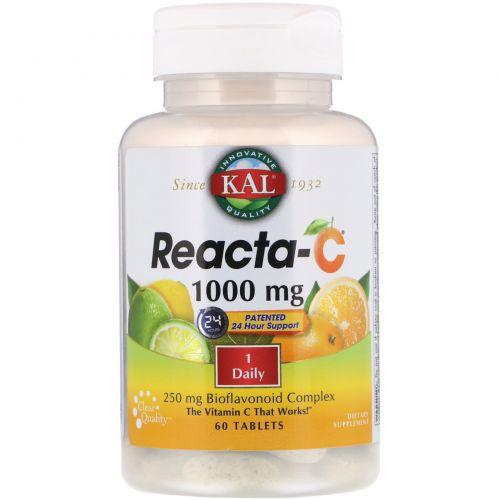 KAL, Reacta-C, 1000 mg, 60 Tablets