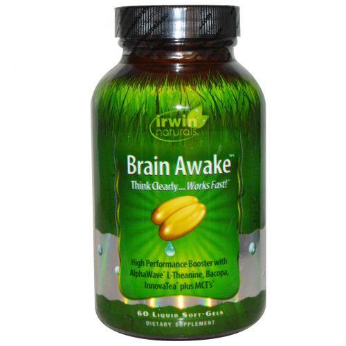 Irwin Naturals, Brain Awake, 60 жидких гелевых капсул