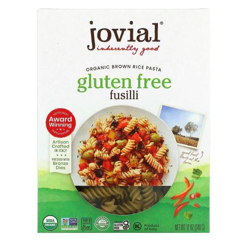 Jovial, Коричневая рисовая паста Fusilli, не содержащая глютена, 12 унций (340 г)