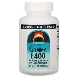 Source Naturals, Комплекс гамма E 400, 60 мягких капсул