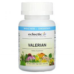 Eclectic Institute, Валериана, 425 мг, 90 растительных капсул