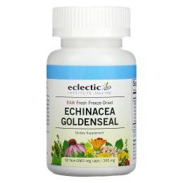 Eclectic Institute, Echinacea Goldenseal, Raw, 350 mg, 90 Non-GMO Veggie Caps
