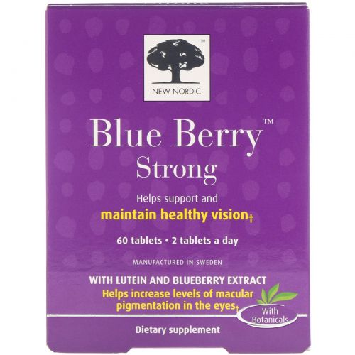 New Nordic US Inc, Синие ягоды очанки, 60 таблеток