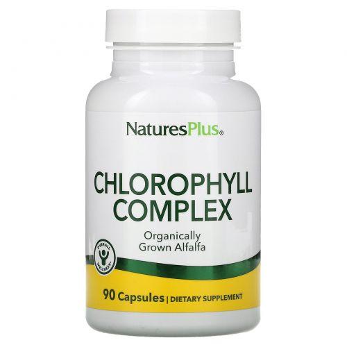 Nature's Plus, Натуральный хлорофилл, 90 растительных капсул