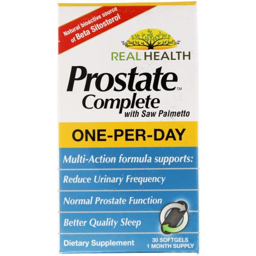 Real Health, Prostate Complete, 30 жидких гелевых капсул