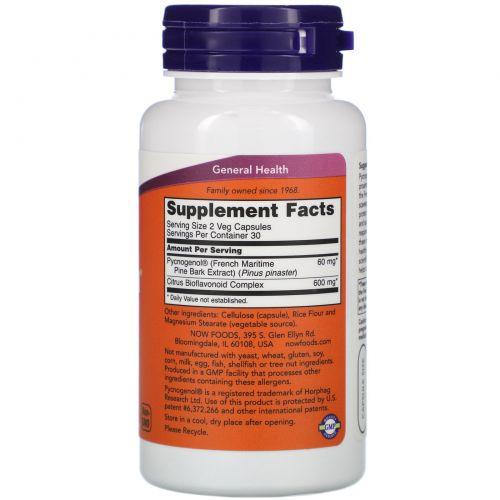 Now Foods, Пикногенол, 30 мг, 60 капсул