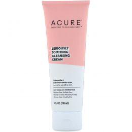Acure Organics, Очищающее средство для лица для чувствительной кожи, без ароматизаторов, 4 жидкие унции (118 мл)