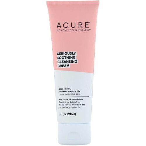 Acure Organics, Глубокое успокоение, очищающий крем, 118 мл (4 ж. унц.)