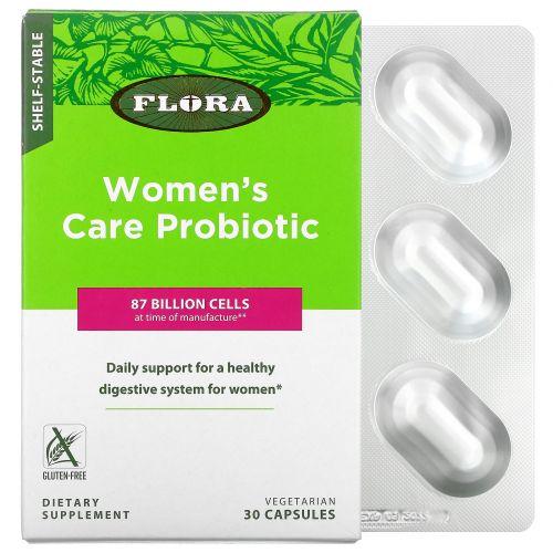 Flora, Пробиотик для ухода для женщин, устойчивый при хранении, 30 капсул