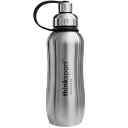 Think, Thinksport, герметичная спортивная бутыль, серебро, 25 унций (750 мл)