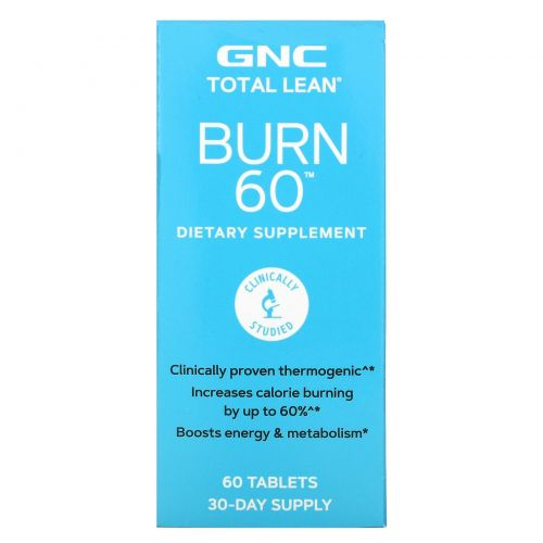 GNC, Burn 60, 60 Tablets