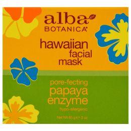 Alba Botanica, Гавайская маска для лица с энзимом папайи, 3 oz (85 г)