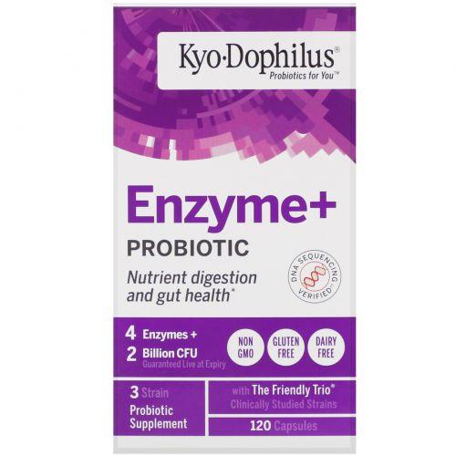 Wakunaga - Kyolic, Kyo•Dophilus, пробиотики плюс ферменты, 120 капсул