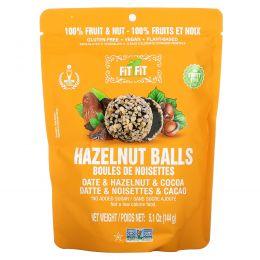 Nature's Wild Organic, All Natural, закуски из фруктов и орехов, фит-шарики, финики + лесные орехи + какао, 5,1 унции (144 г)