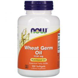Now Foods, Масло зародышей пшеницы, 1130 мг, 100 желатиновых капсул