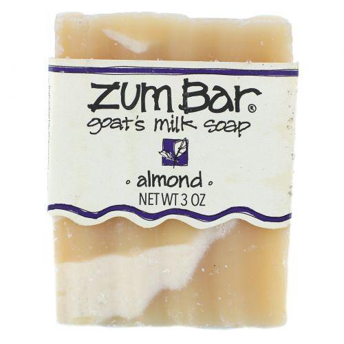 Indigo Wild, Zum Bar, мыло с козьим молоком, миндаль, кусок весом 3 унции