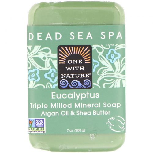 One with Nature, Triple Milled Mineral Soap Bar, Eucalyptus, 7 oz (200 g)