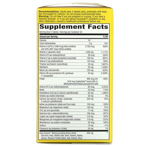 Nature's Way, Alive! Мультивитамины Max3 Daily без добавления железа, 90 таблеток