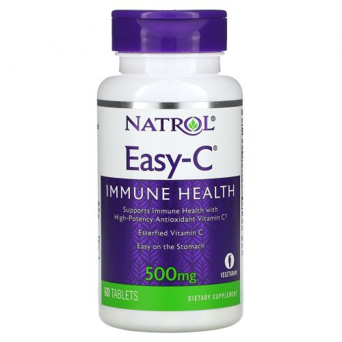 Natrol, Easy-C, 500 mg, 60 Tablets