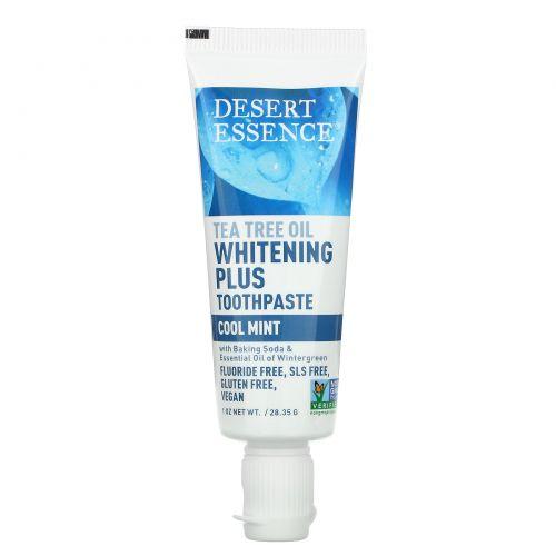 Desert Essence, Tea Tree Oil Whitening Plus Toothpaste, Cool Mint, 1 oz (28.35 g)