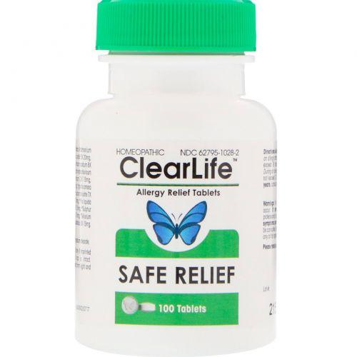 MediNatura, ClearLife, Allergy Relief Tablets, 100 Chewable Tablets
