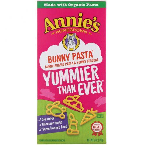 Annie's Homegrown, Макароны с сыром, паста с вкусным сыром, 6 унций (170 г)