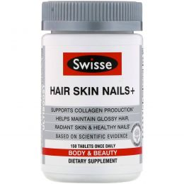 Swisse, Ultiboost, Hair Skin Nails+, 150 Tablets