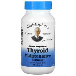 Christopher's Original Formulas, Профилактика для щитовидной железы, 475 мг каждая, 100 капсул в растительной оболочке
