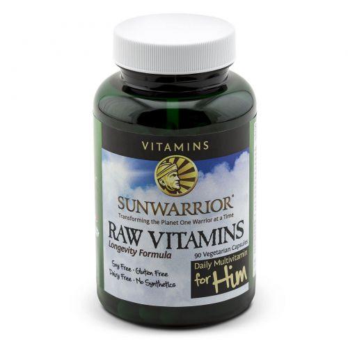 Sunwarrior, Сырые витамины, ежедневный мультивитамин для него, 90 капсул на растительной основе