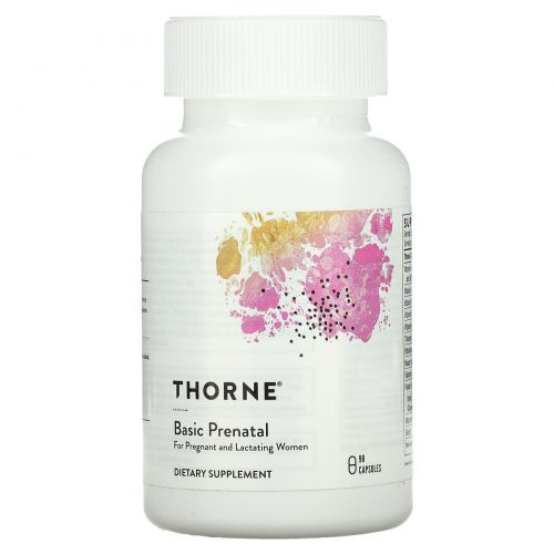 Thorne Research, Basic Prenatal, 90 капсул