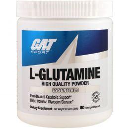 GAT, L-глутамин, без вкуса, 10,58 унций (300 г)
