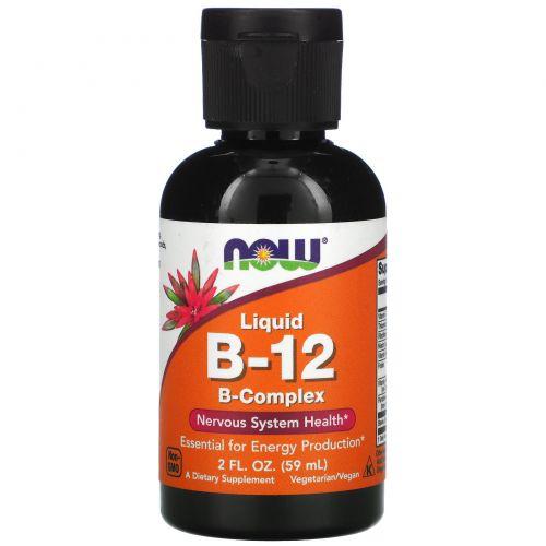 Now Foods, Жидкий Витамин B-12, 2 жидкие унции (60 мл)