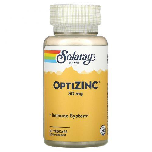 Solaray, ОптиЦинк, 30 мг, 60 вегетарианских капсул